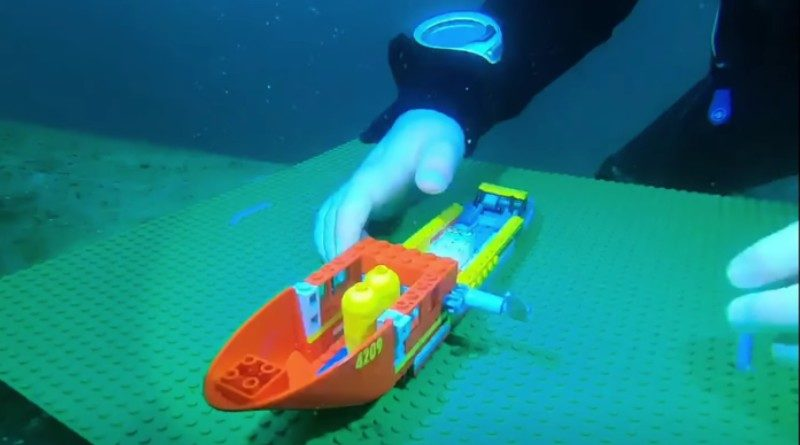 LEGO diving charity fundraiser