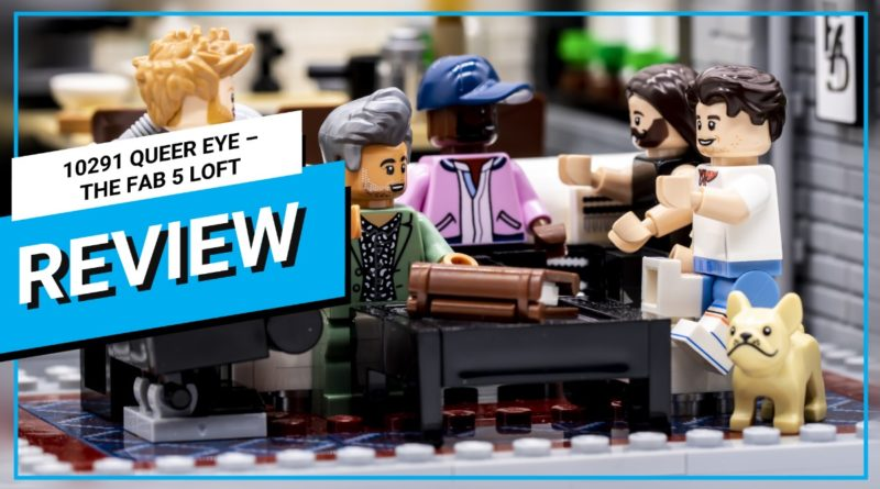 LEGO for Adults 10291 Queer Eye – The Fab 5 Loft video review thumbnail featured
