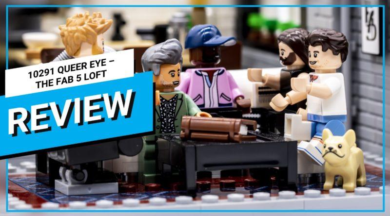 LEGO for Adults 10291 Queer Eye – La miniatura della recensione del video Fab 5 Loft in primo piano