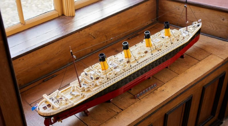 LEGO for Adults 10294 Titanic lifestyle window above featured