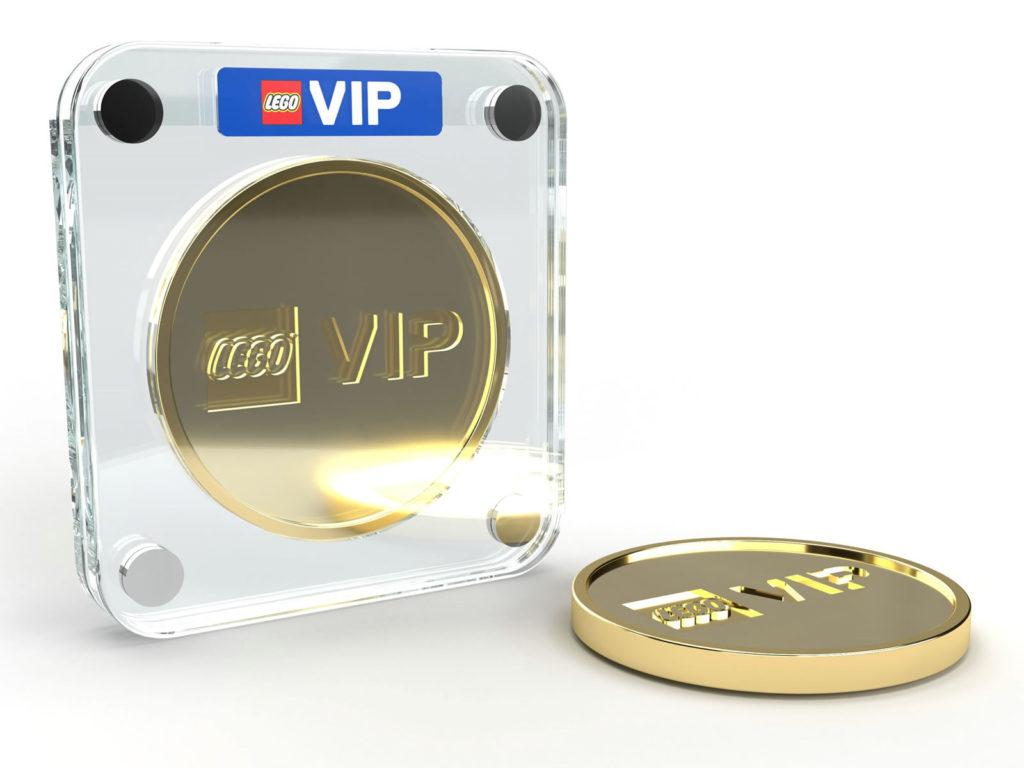 LEGO gold VIP coin