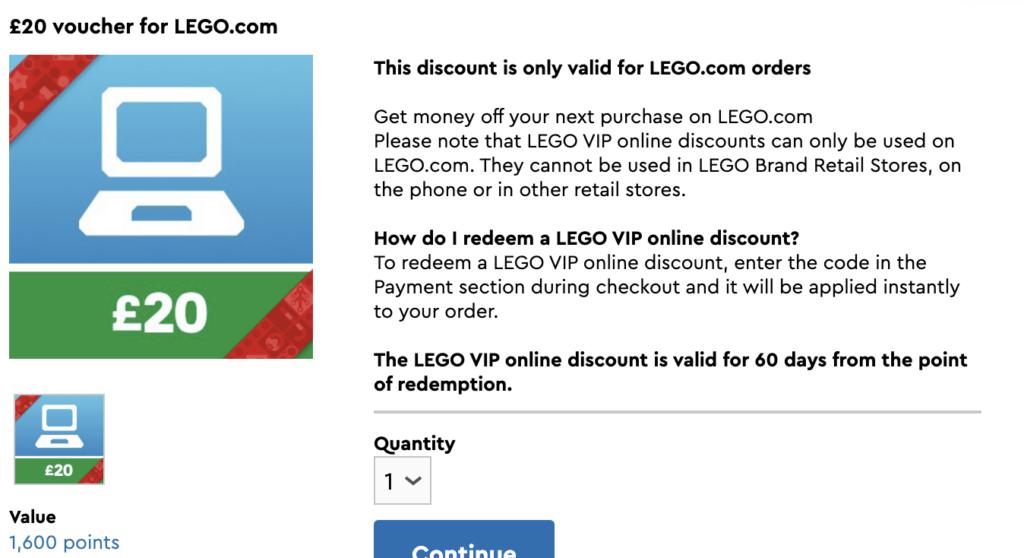 LEGO half price VIP voucher Cyber Monday
