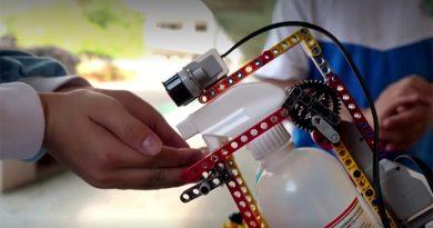 LEGO coronavirus hand sanitiser