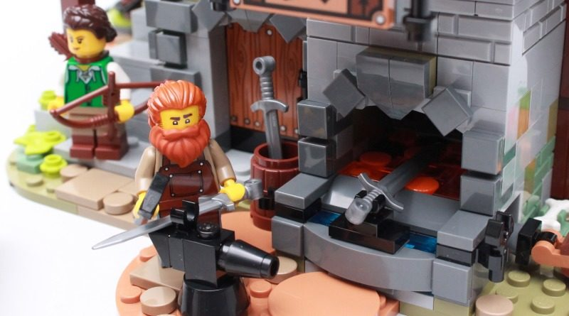 LEGO ideas 21325 Medieval Blacksmith review featured