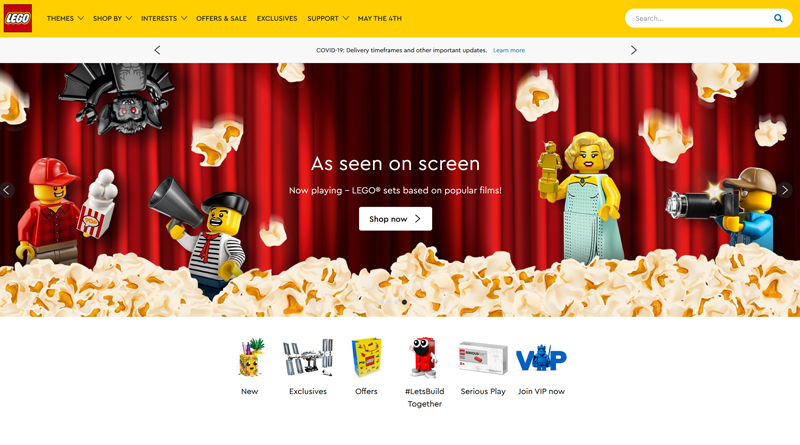 LEGO online shop