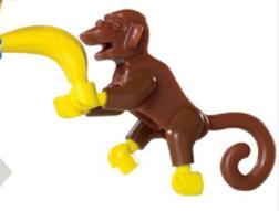 LEGO original monkey brick