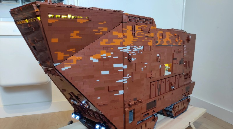 LEGO Sandcrawler Star Wars Moc Featured