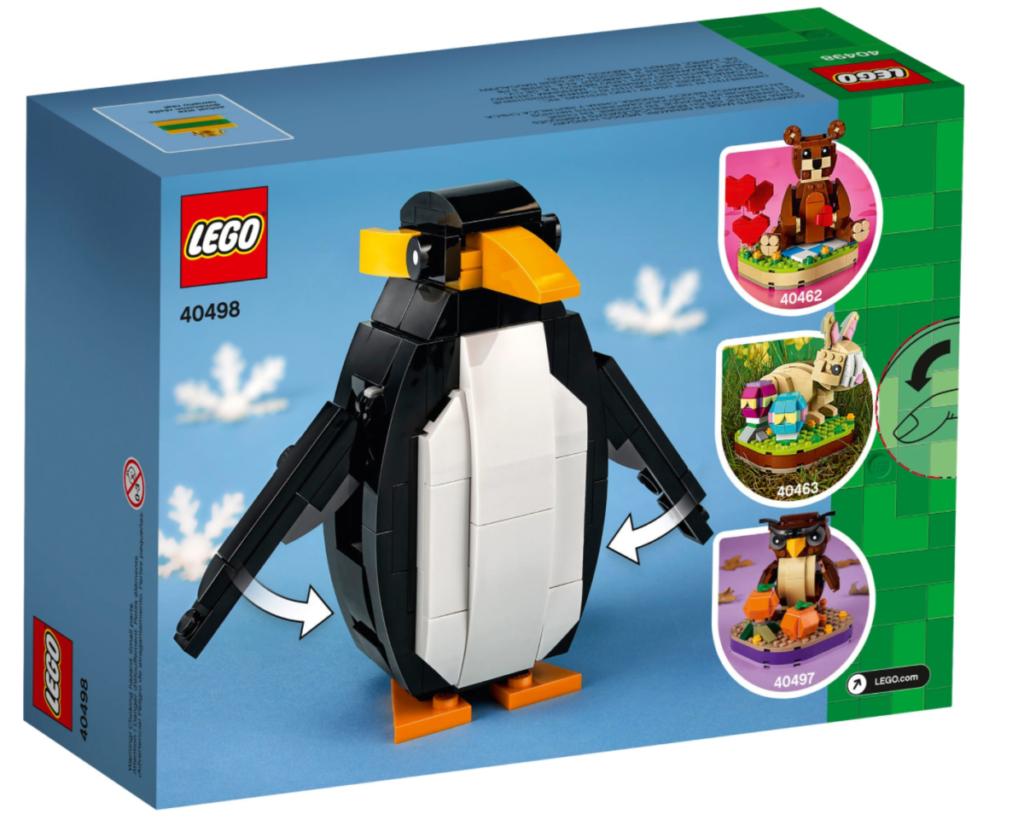 LEGO seasonal 40498 Christmas Penguin box back