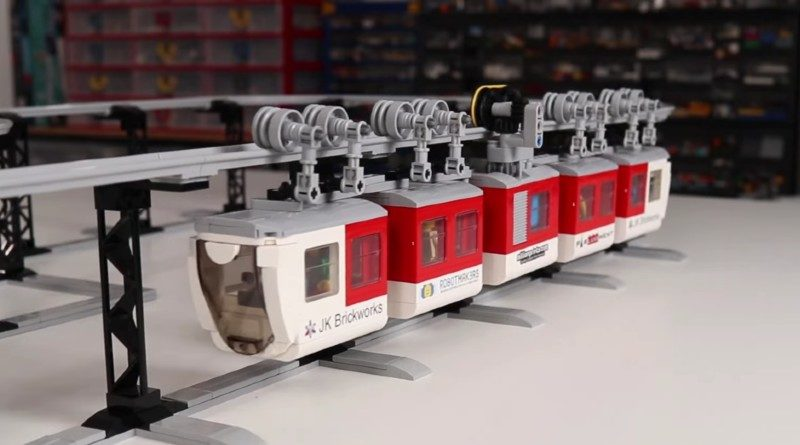 LEGO suspended train featured