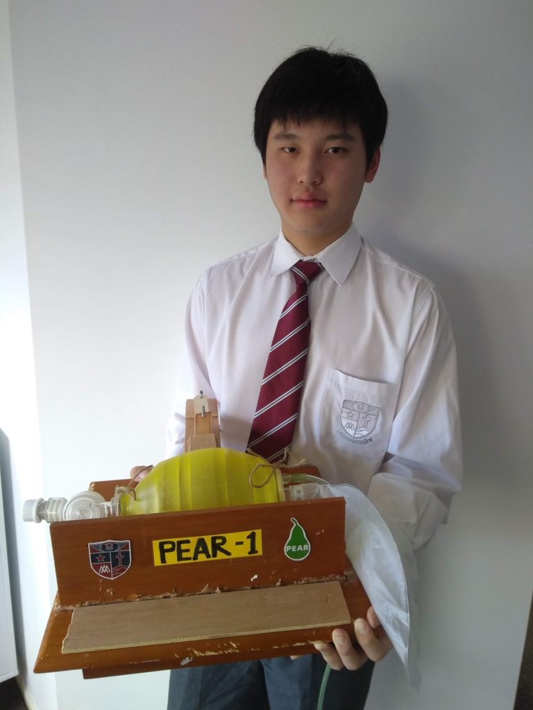 Ventilator prototyped using LEGO bricks