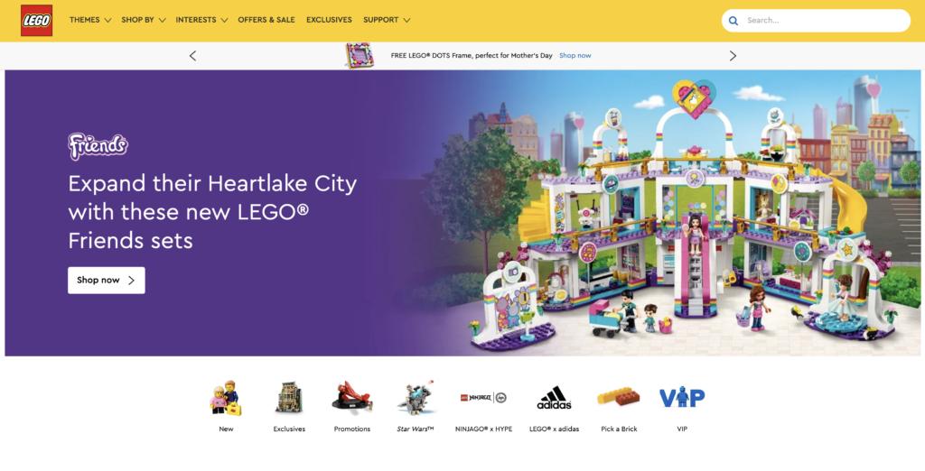 LEGO.com storefront
