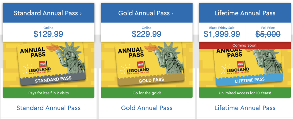 LEGOLAND Annual Pass Black Friday