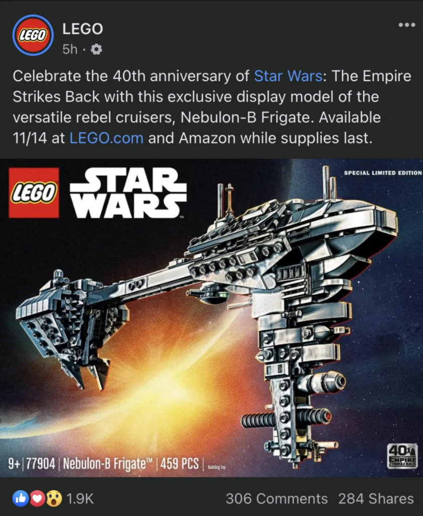 LEGo Star Wars 77905 Facebook