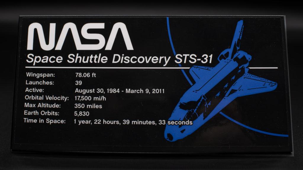 Lego Creator Expert 10283 NASA Space Shuttle Discovery 50