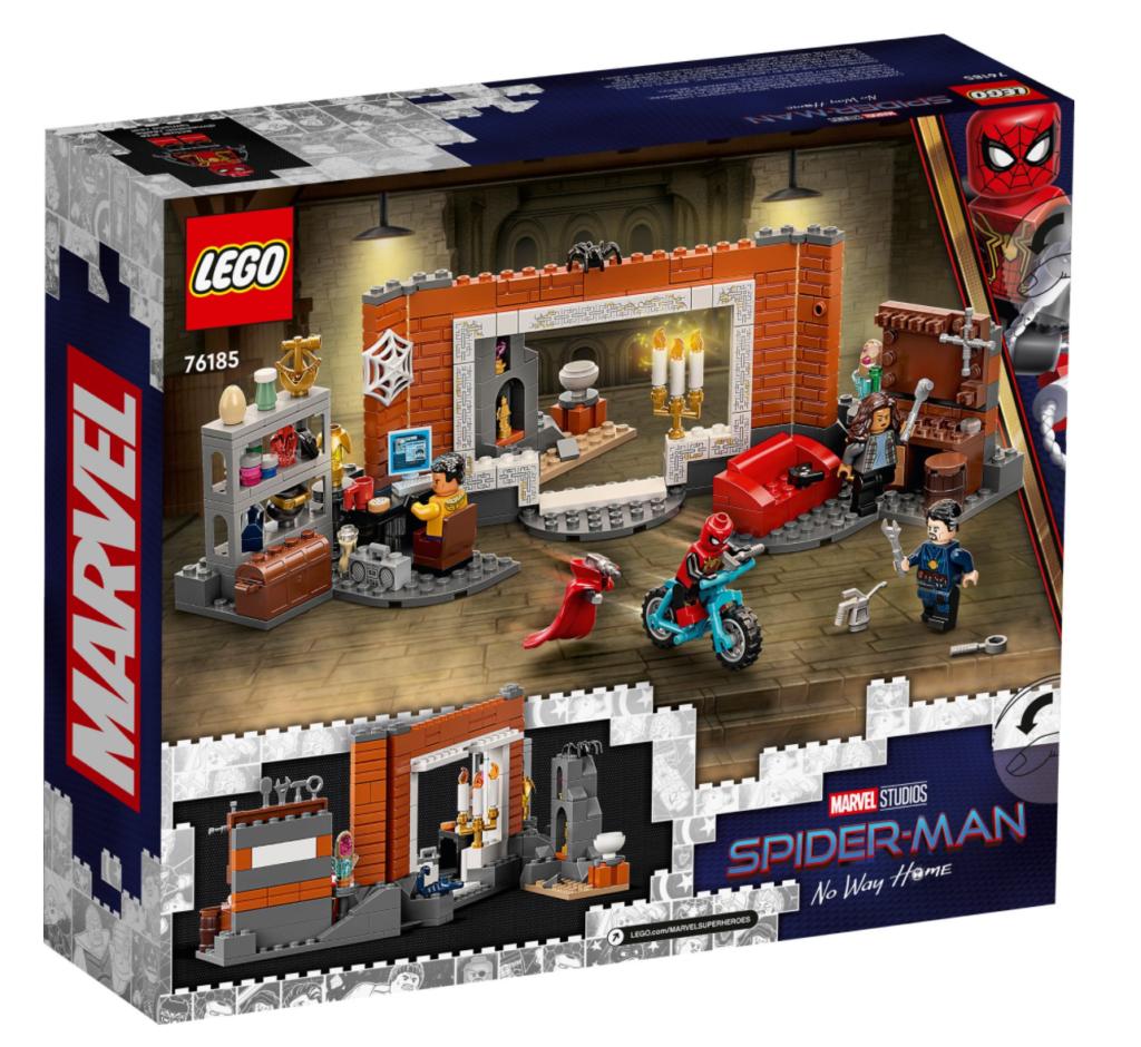 Lego Marvel 76185 Spider Man at the Sanctum Workshop box back 1