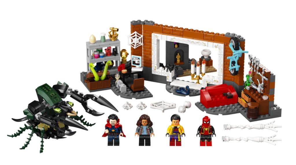 Lego Marvel 76185 Spider Man at the Sanctum Workshop contents 1