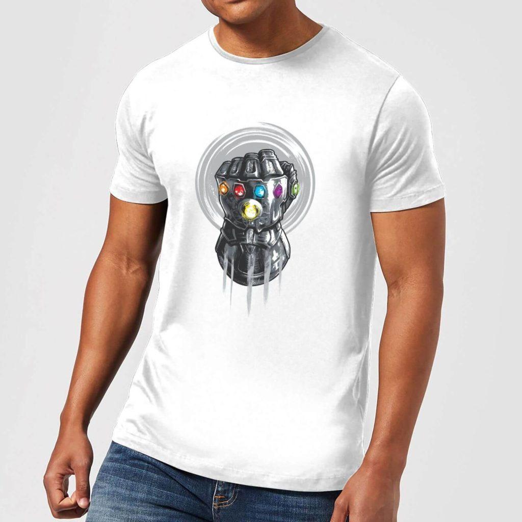 Marvel Zavvi Infinity Gauntlet t shirt