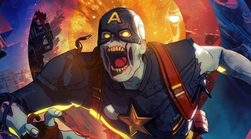 Marvel Zombie Captain America Poster featured