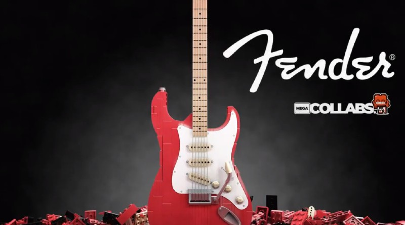 Mega Construx Stratocaster Featured