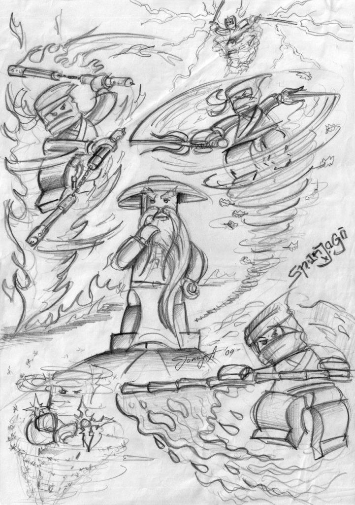 NINJAGO First Drawing