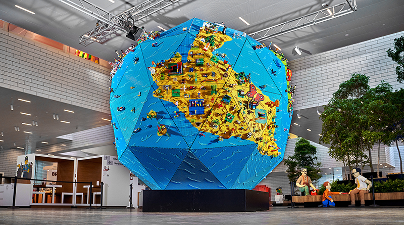 Rebuild The World LEGO Globe Featured