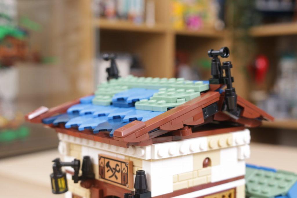Rebuilding LEGO Ideas 21318 Medieval Blacksmith with Rebrickable 22i