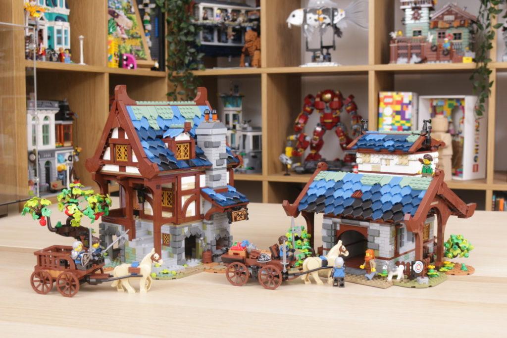 Rebuilding LEGO Ideas 21318 Medieval Blacksmith with Rebrickable 39