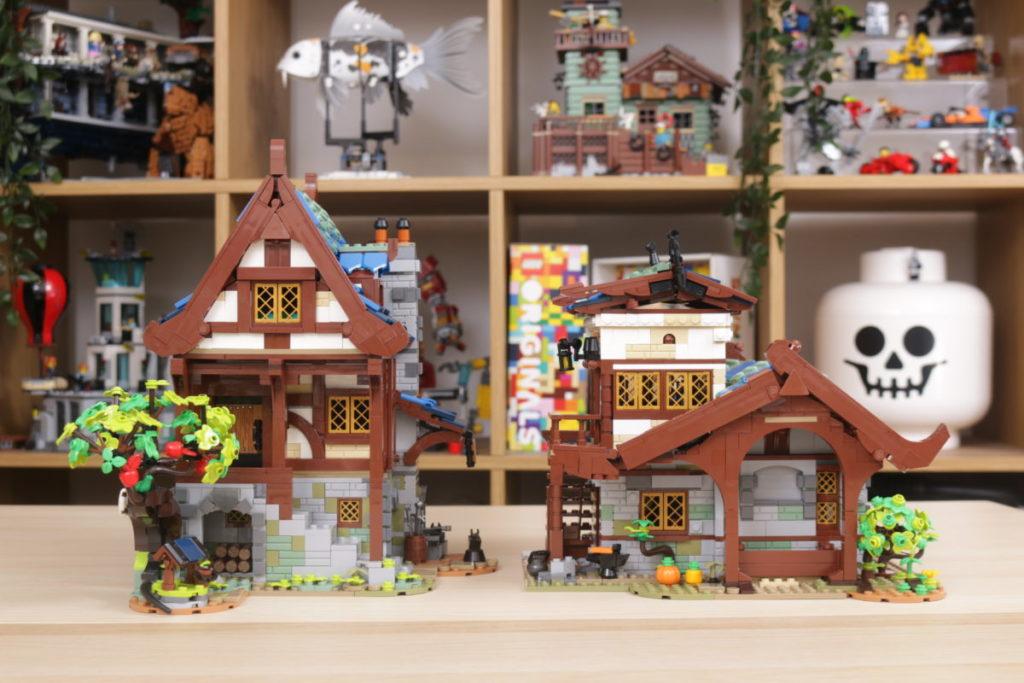 Rebuilding LEGO Ideas 21318 Medieval Blacksmith with Rebrickable 40