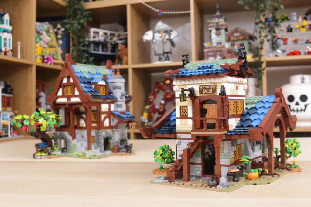 Rebuilding LEGO Ideas 21318 Medieval Blacksmith with Rebrickable 42