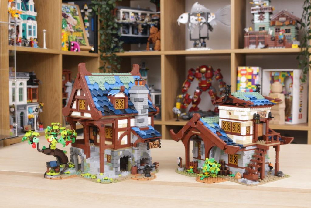 Rebuilding LEGO Ideas 21318 Medieval Blacksmith with Rebrickable 43