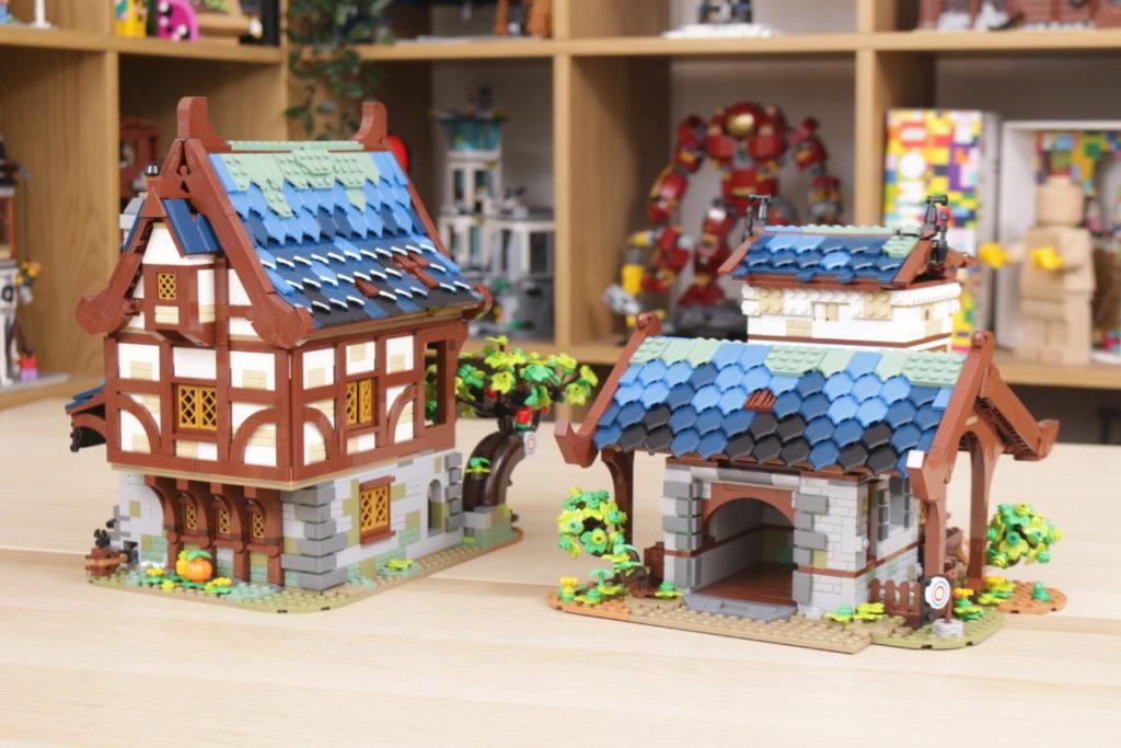 Rebuilding LEGO Ideas 21318 Medieval Blacksmith with Rebrickable 44