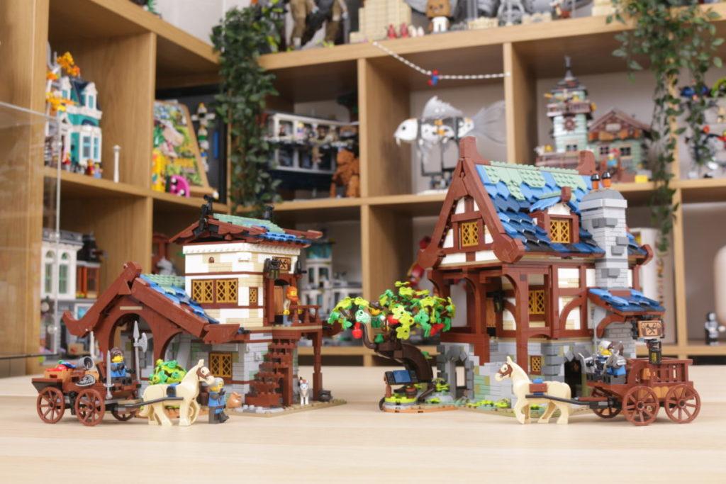 Rebuilding LEGO Ideas 21318 Medieval Blacksmith with Rebrickable 47i