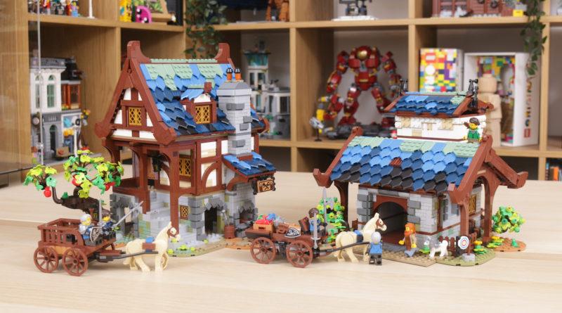 Rebuilding LEGO Ideas 21318 Medieval Blacksmith with Rebrickable title 2