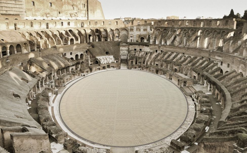 Rome Colosseum Floor
