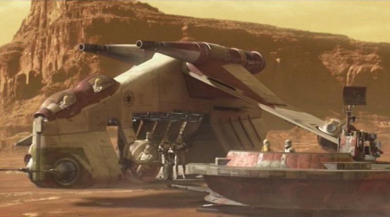 Star Wars Attack Of The Clones Republic Gunship Featured