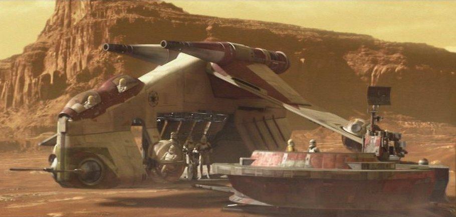 Star Wars Attack of the Clones Republic Gunship