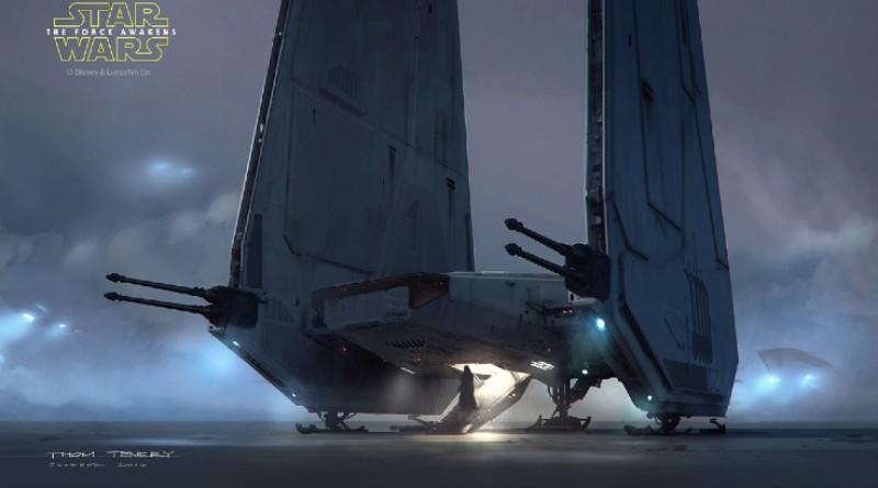 Star Wars Kylo Rens Command Shuttle Concept Art