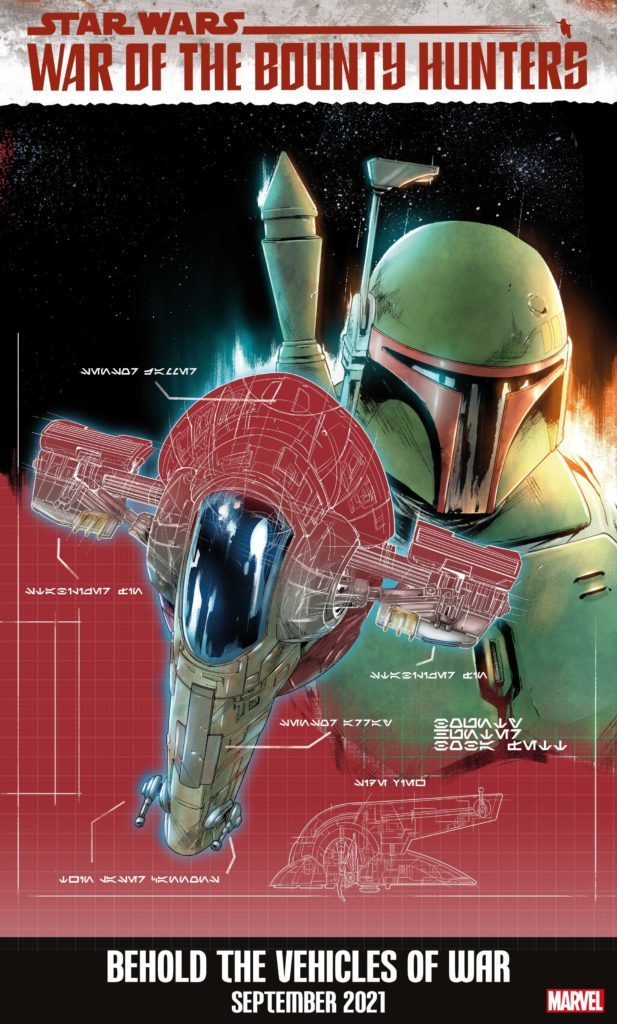 Star Wars War of the bounty hunters comic cover