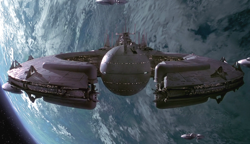 Star Wars droid control ship