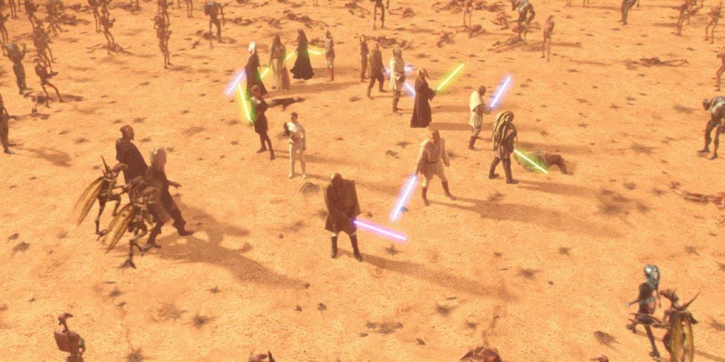 Star Wras Geonosis Jedi