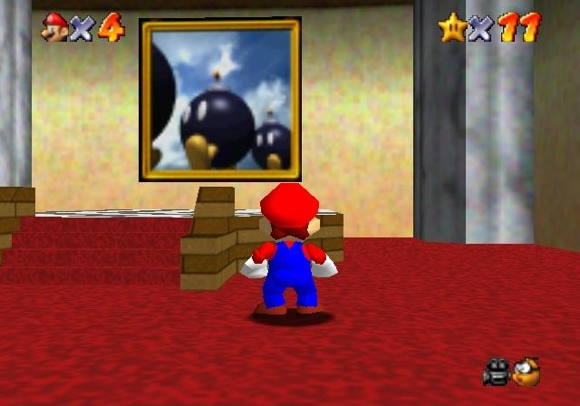 Super Mario Bob omb battlefield painting