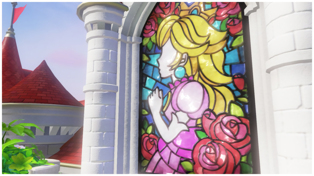 Super Mario Odyssey Peachs Castle Stained Glass