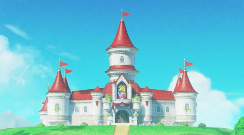 Super Mario Odyssey Peachs Castle သည်အရွယ်အစားကိုအသားပေးဖော်ပြသည်