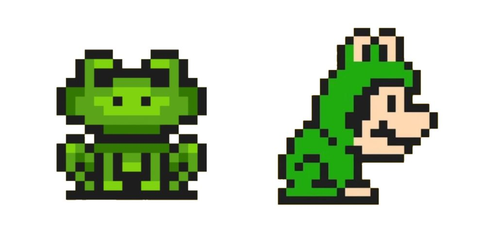 Super Mario frog suit power up list