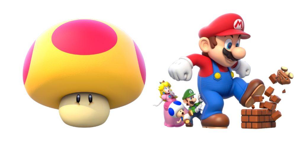 Super Mario power ups mega mushroom list