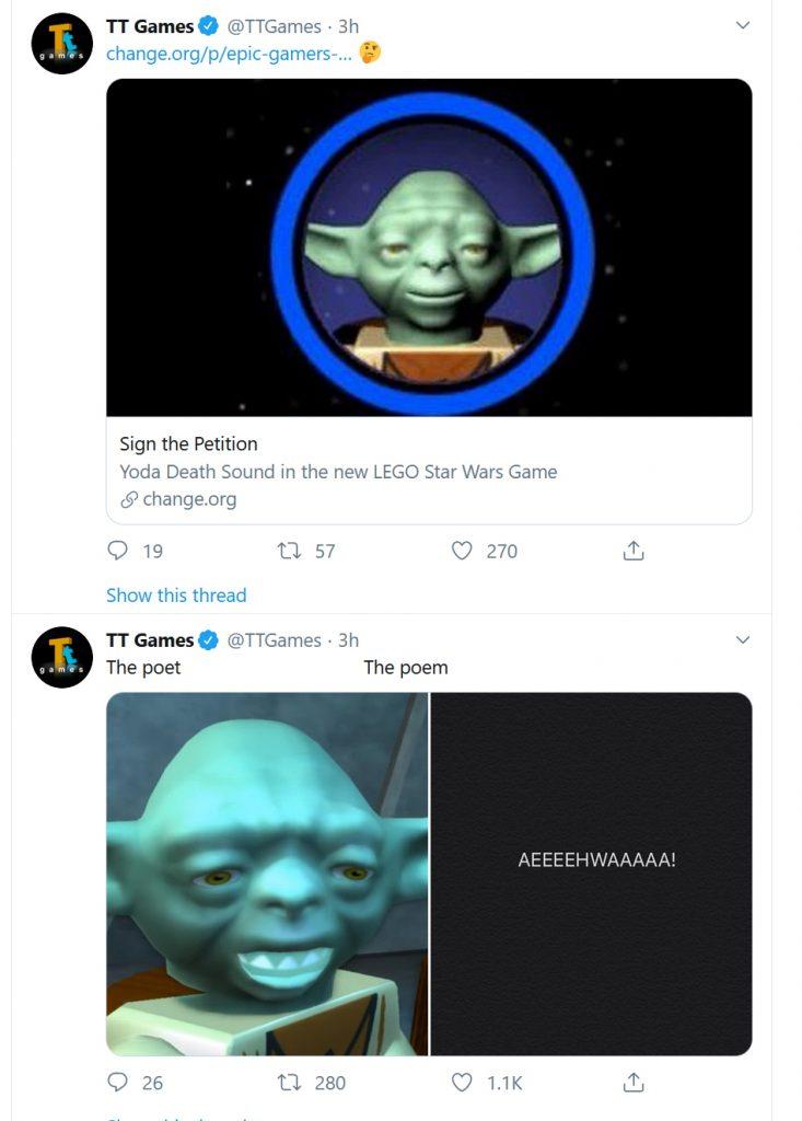 TT Games LEGO StarWars Tweets