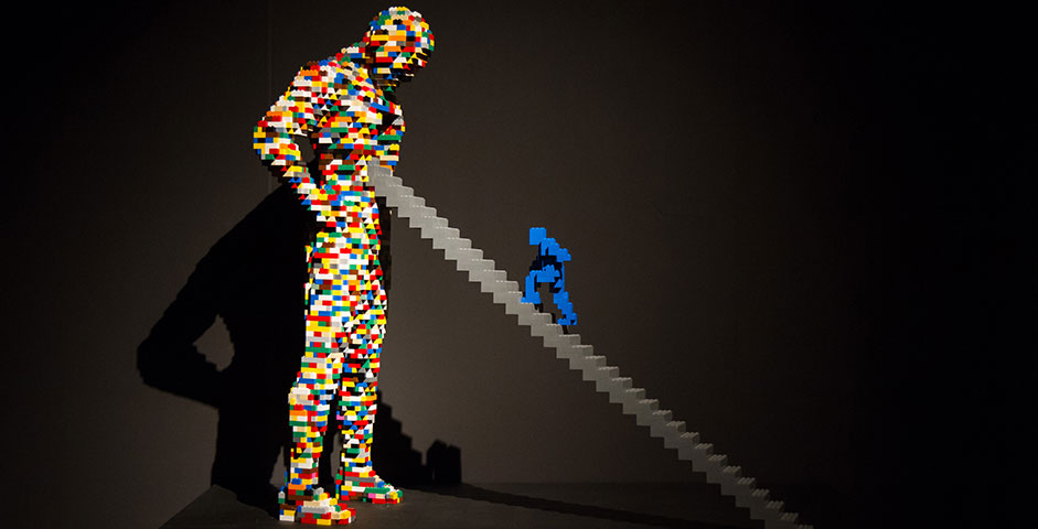 The Art Of The Brick Statue
