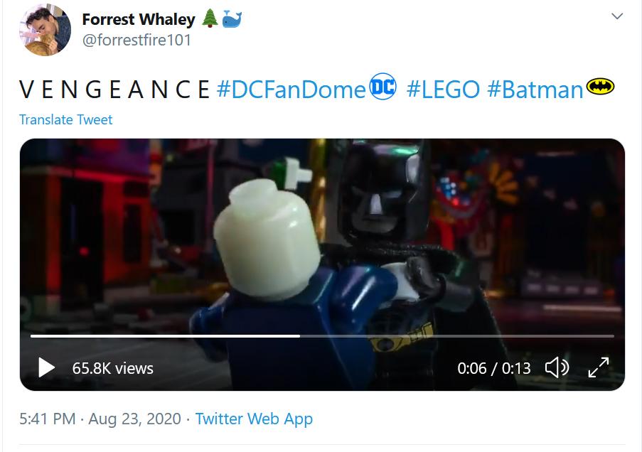 The Batman Brickfilm Tweet