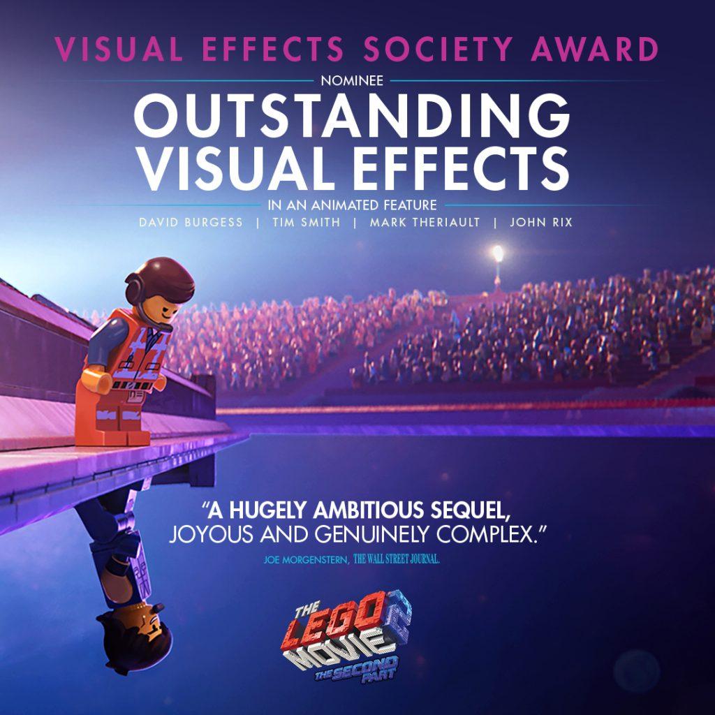 The LEGO Movie 2 Visual Effects Award