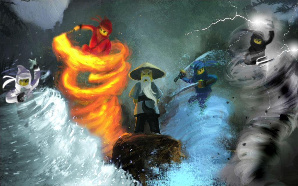 The Ninjago Concept Was First Thought Of On A Friday And During The Weekend Craig Sellars Painted This 2009